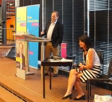 Unsere Süd-Landtagskandidatin Anita Rick-Blunck moderierte den Abend